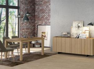 Comedor moderno de madera natural