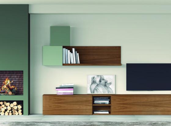 Muebles para salón color madera