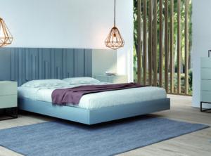 Cabecero moderno color azul