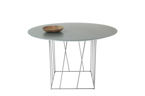 mesa comedor redonda con pata metálica