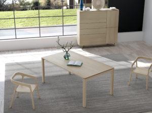 Comedor moderno madera clara