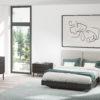 Dormitorio moderno y recto