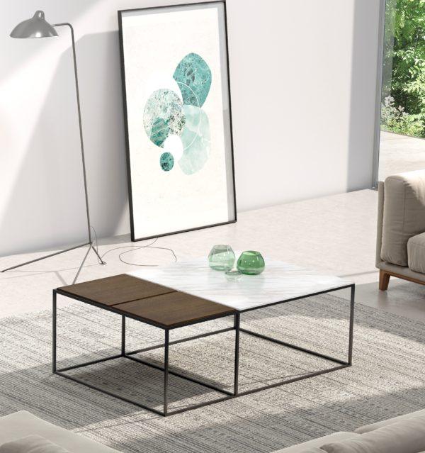 Mesa de comedor con tapa porcelánica