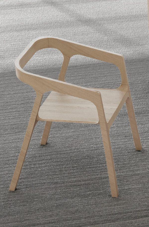 Silla de diseño madera clara