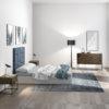 Dormitorio moderno madera oscura