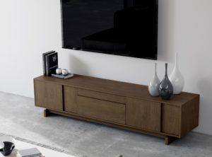 Mueble Tv madera oscuro