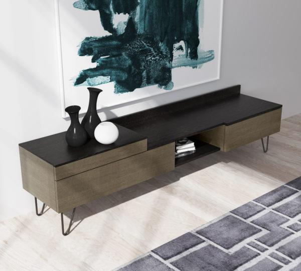 Mueble de TV en dos tonalidades